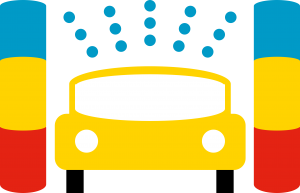 Carwash rollover pictogram